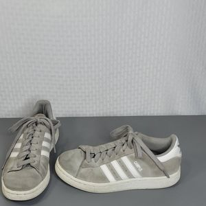 Adidas Campus Gray Lace Up Sneakers Men's Size 5.5